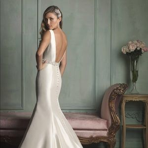 Very COOL champagne LOW BACK Wedding Dress!